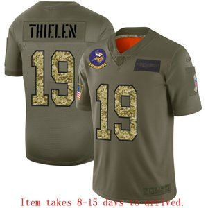 Minnesota Vikings #19 Adam Thielen Jersey Camo
